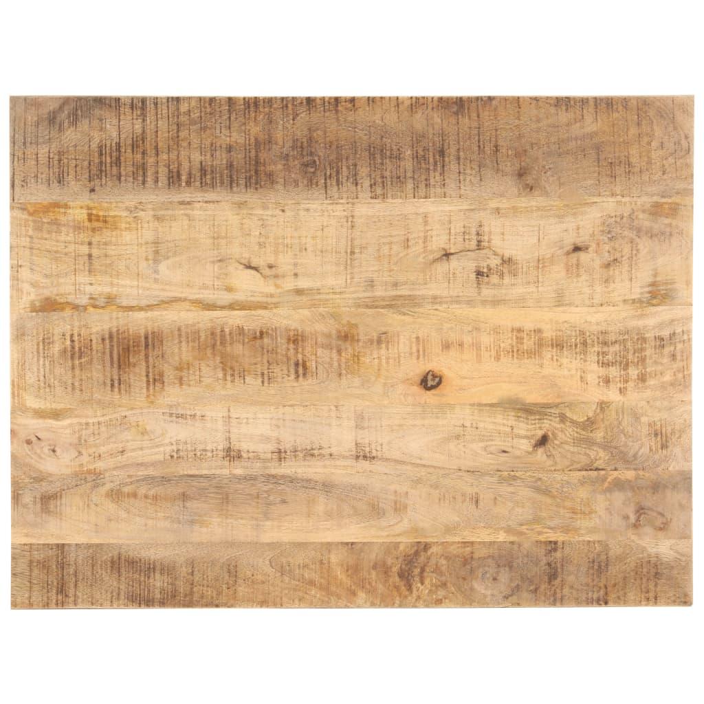 vidaXL Blat de masă, 80 x 60 cm, lemn masiv de mango, 25-27 mm poza vidaxl.ro