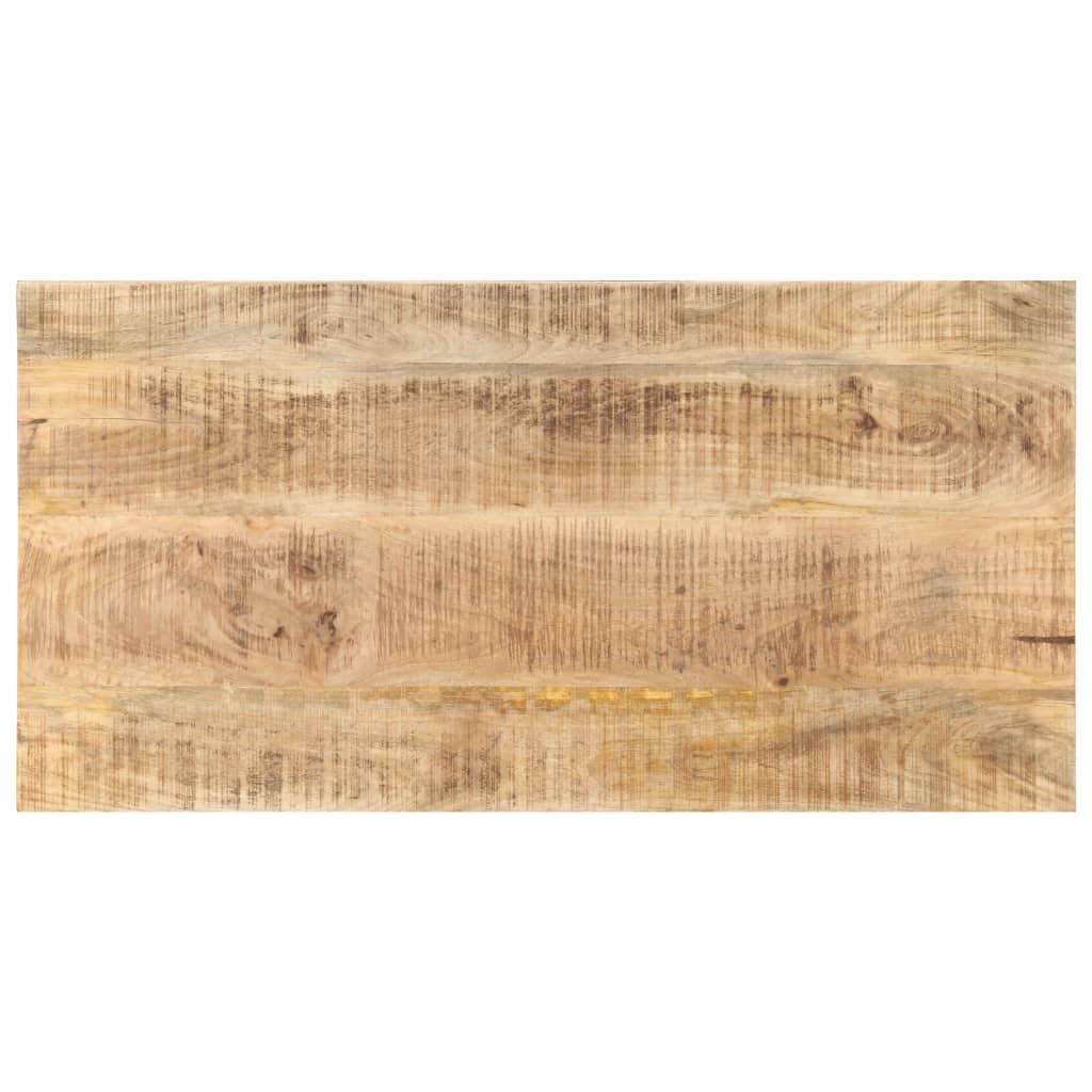 Stolní deska masivní mangovníkové dřevo 25–27 mm 100 x 60 cm