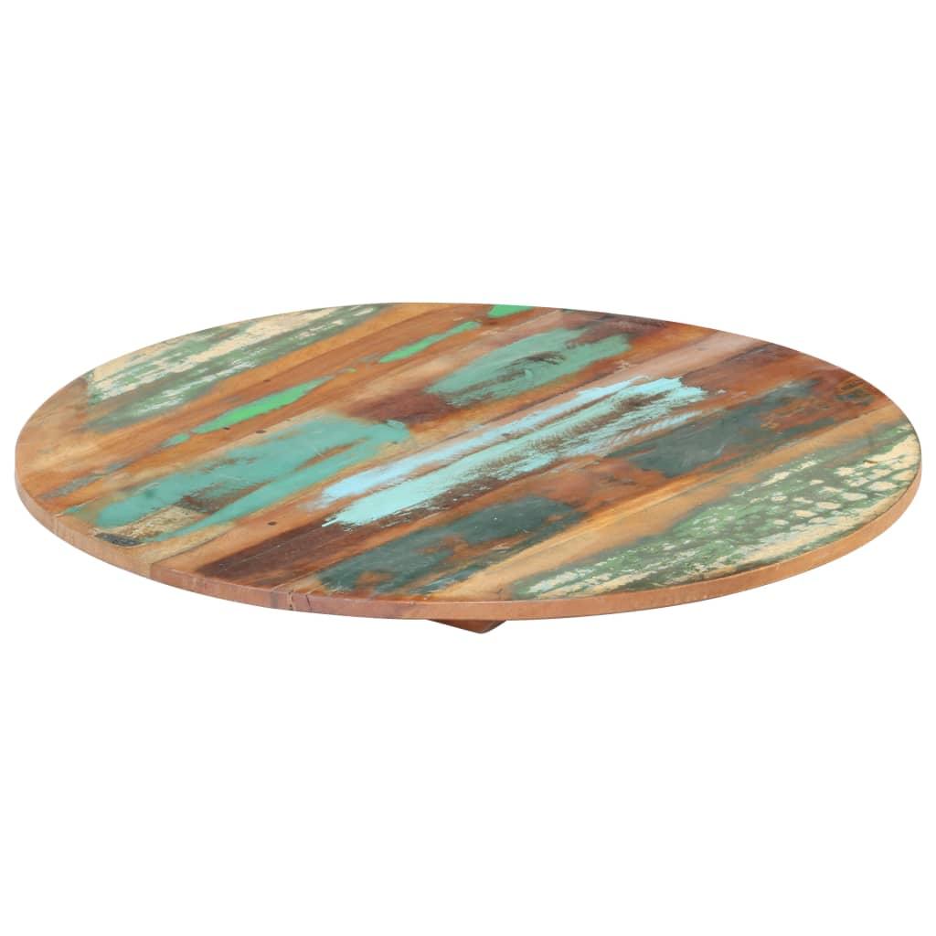 vidaXL Blat de masă rotund, 50 cm, lemn masiv reciclat, 15-16 mm imagine vidaxl.ro