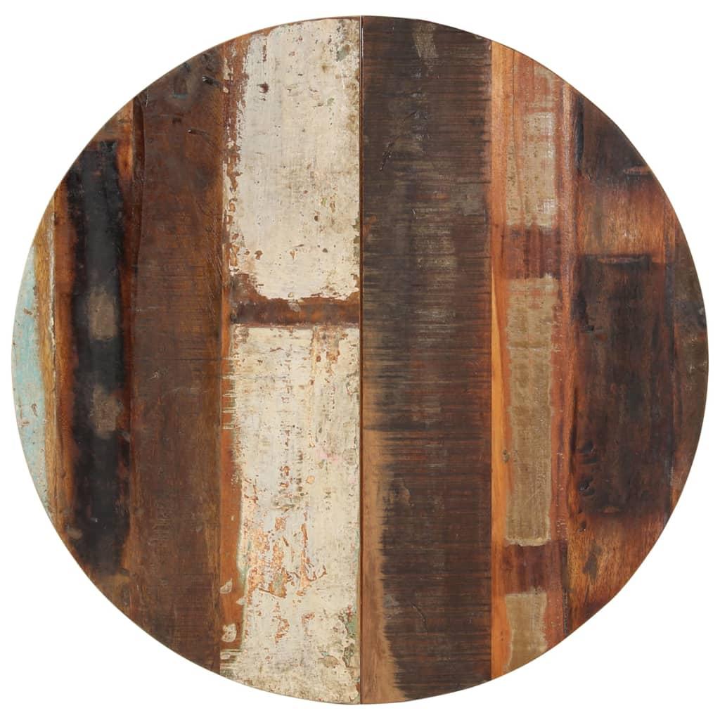 vidaXL Blat de masă rotund, 70 cm, lemn masiv reciclat, 15-16 mm poza vidaxl.ro