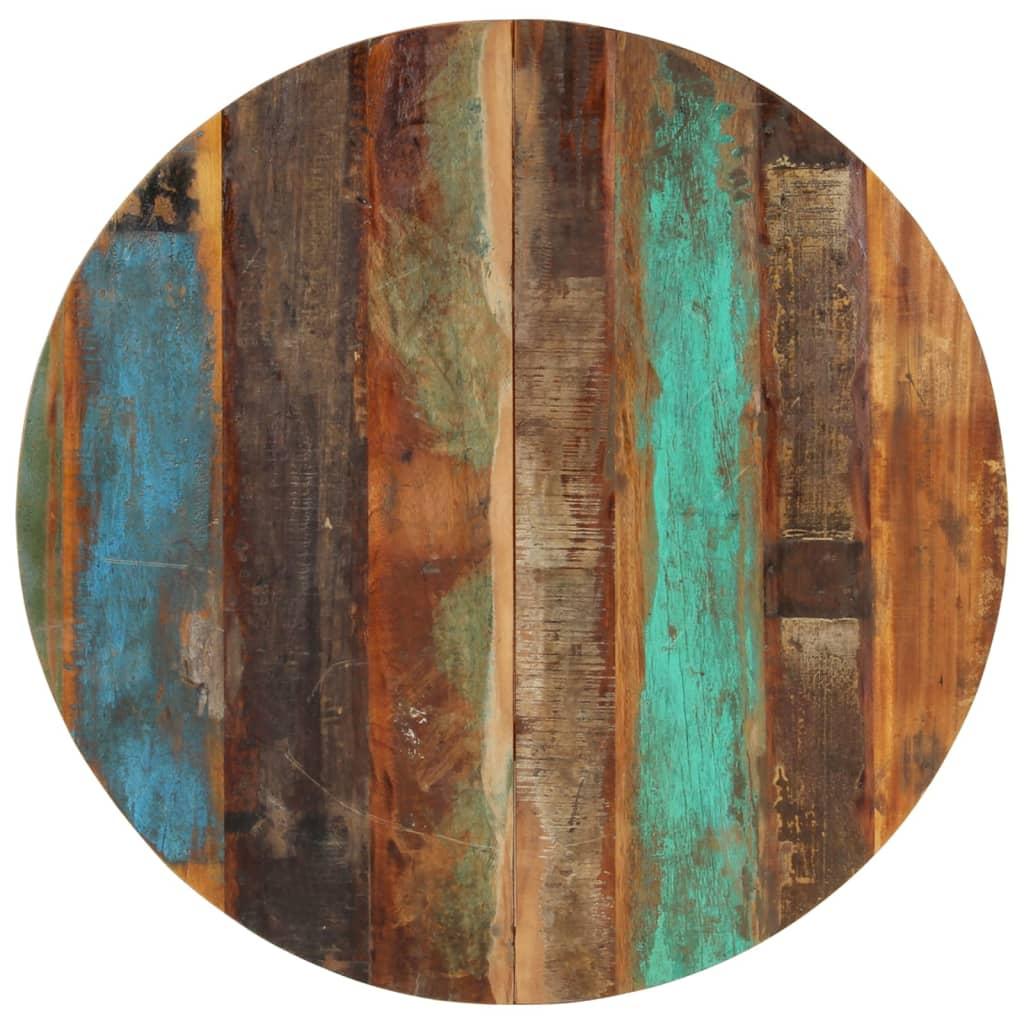 vidaXL Blat de masă rotund, 80 cm, lemn masiv reciclat, 15-16 mm vidaxl.ro