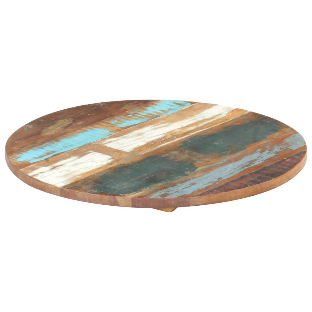 vidaXL Blat de masă rotund, 40 cm, lemn masiv reciclat, 25-27 mm poza vidaxl.ro