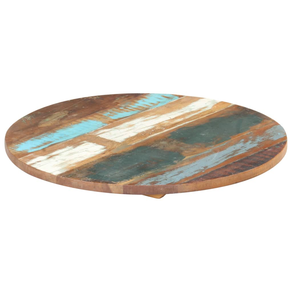 vidaXL Blat de masă rotund, 70 cm, lemn masiv reciclat, 25-27 mm vidaxl.ro
