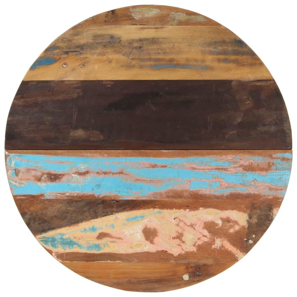 vidaXL Blat de masă rotund, 80 cm, lemn masiv reciclat, 25-27 mm imagine vidaxl.ro