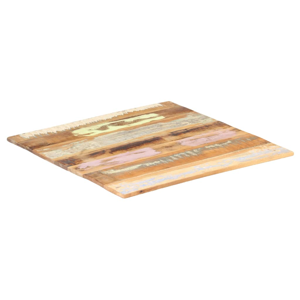 vidaXL Blat de masă pătrat, 70 x 70 cm, lemn masiv reciclat, 15-16 mm vidaxl.ro