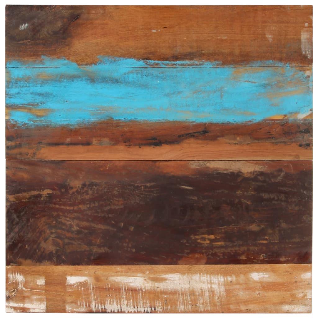 vidaXL Blat de masă pătrat, 80 x 80 cm, lemn masiv reciclat, 15-16 mm imagine vidaxl.ro