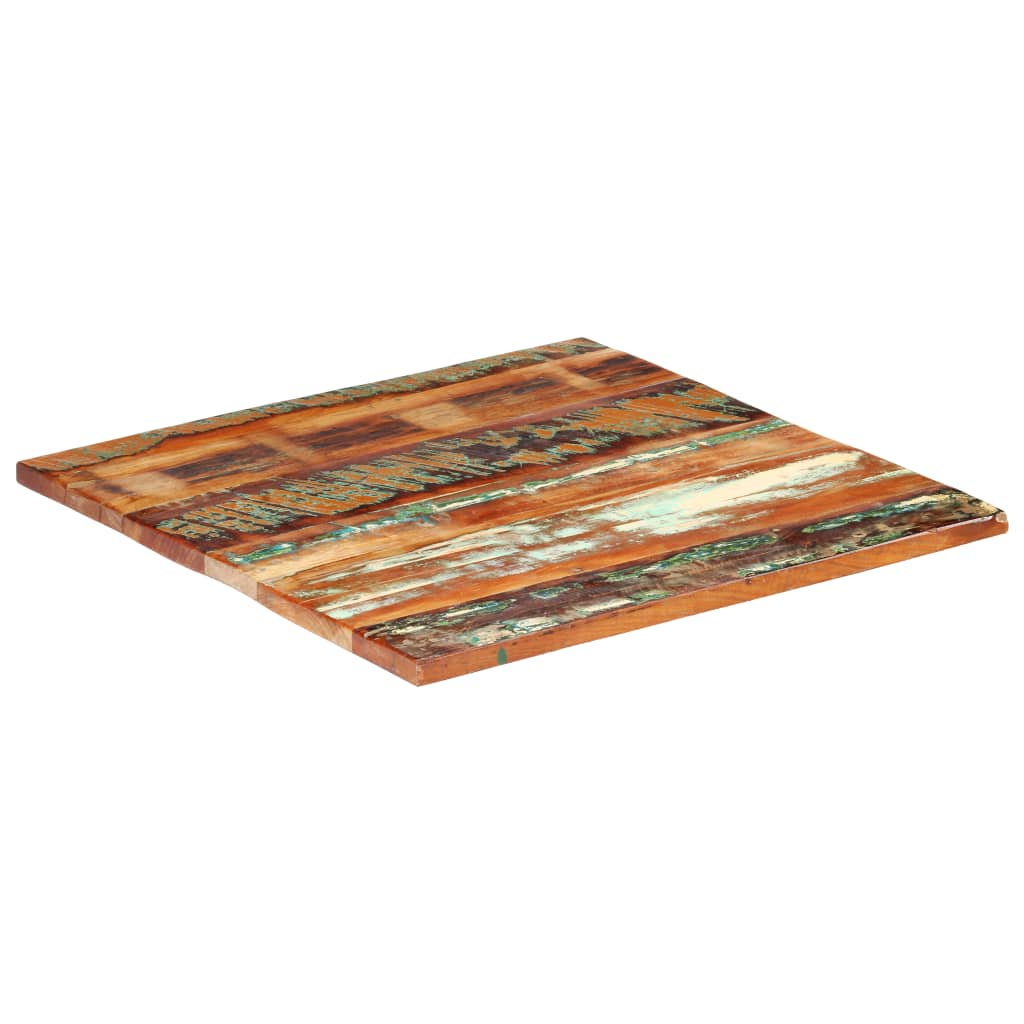 vidaXL Blat de masă pătrat, 80 x 80 cm, lemn masiv reciclat, 25-27 mm imagine vidaxl.ro