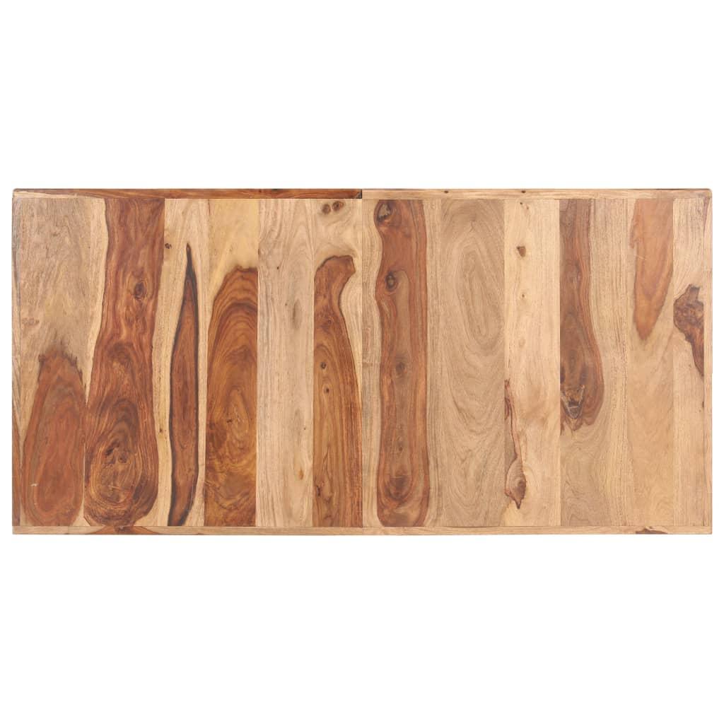 vidaXL Stolna ploča od masivnog drva šišama 16 mm 140 x 70 cm