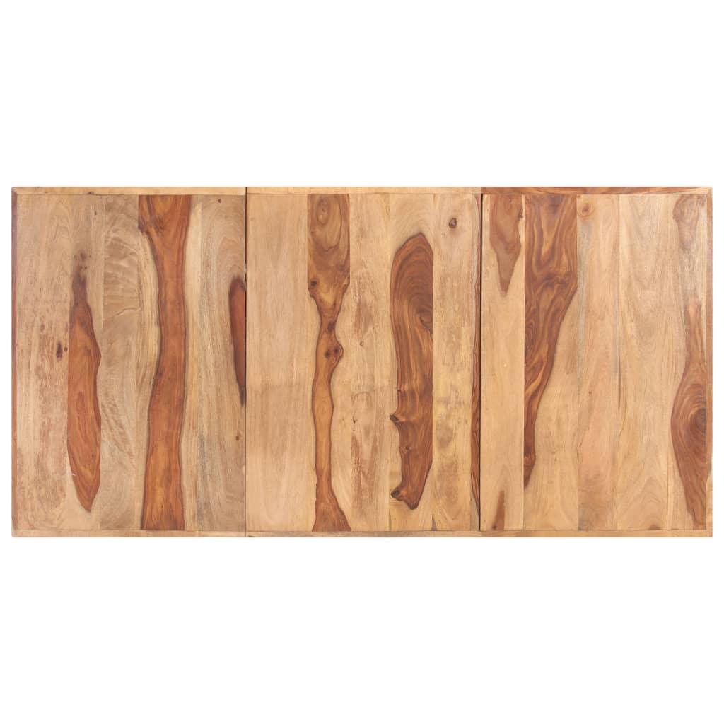 vidaXL Blat de masă, 200 x 100 cm, lemn masiv de sheesham, 16 mm imagine vidaxl.ro