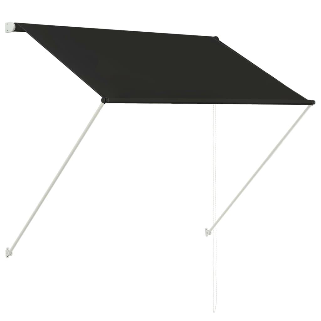 vidaXL Zatahovací markýza 100 x 150 cm antracitová