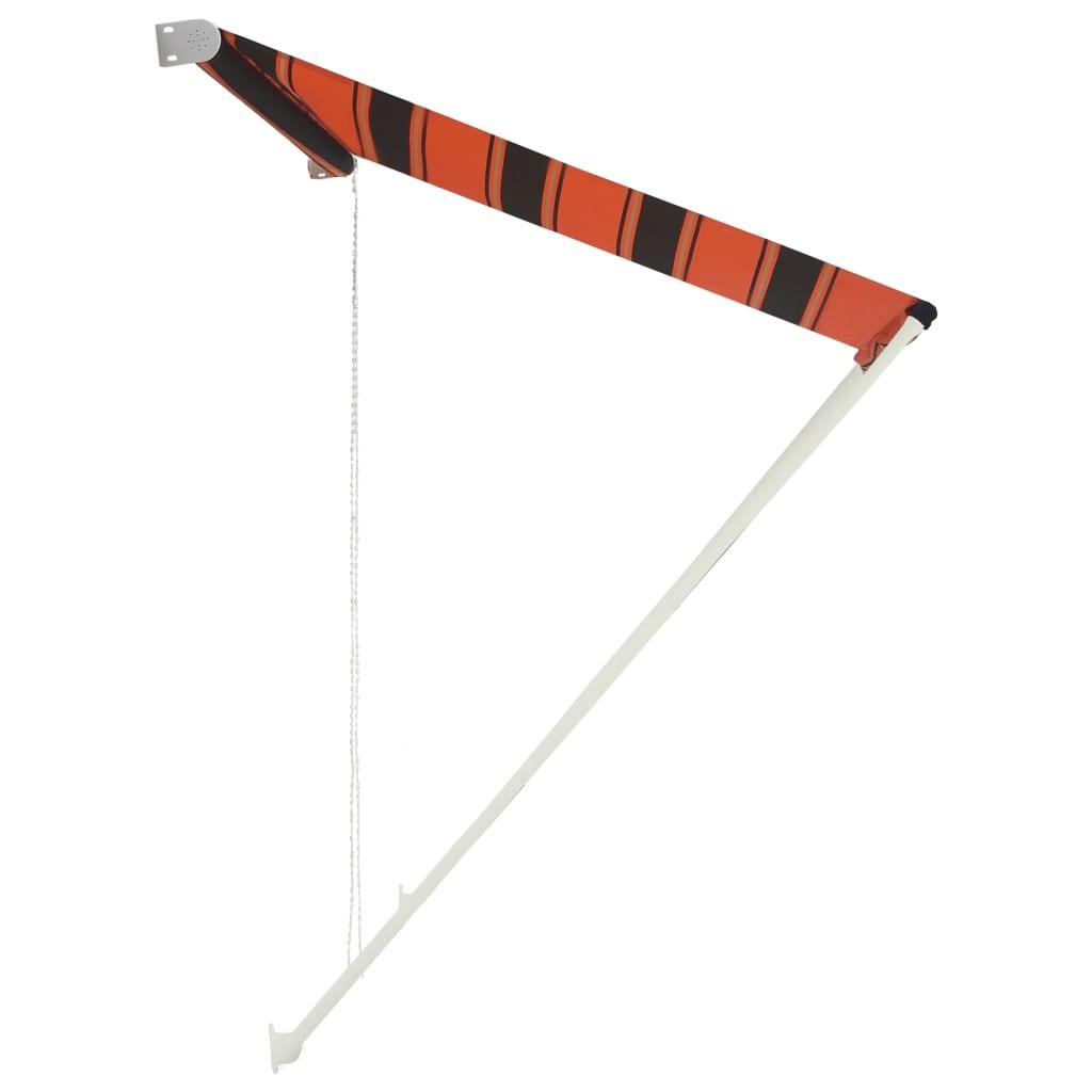 Zatahovací markýza 150 x 150 cm oranžovo-hnědá