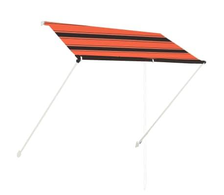 vidaXL Luifel uittrekbaar 200x150 cm oranje en bruin