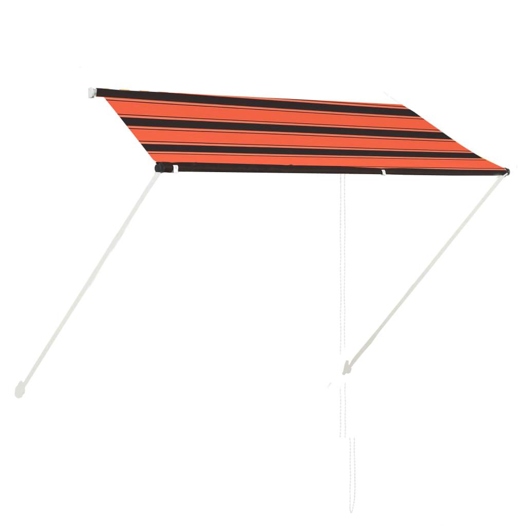 Zatahovací markýza 250 x 150 cm oranžovo-hnědá