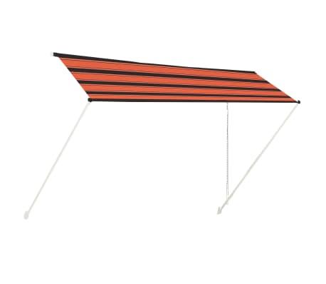 vidaXL Luifel uittrekbaar 400x150 cm oranje en bruin