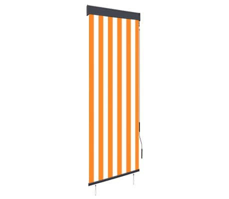 vidaXL Rolgordijn voor buiten 60x250 cm wit en oranje