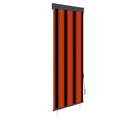 vidaXL Rolgordijn voor buiten 60x250 cm oranje en bruin