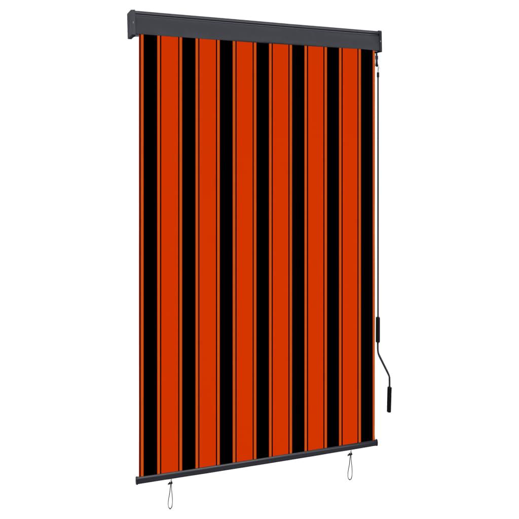 Außenrollo 120 x 250 cm Orange und Braun
