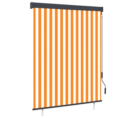 vidaXL Rolgordijn voor buiten 140x250 cm wit en oranje
