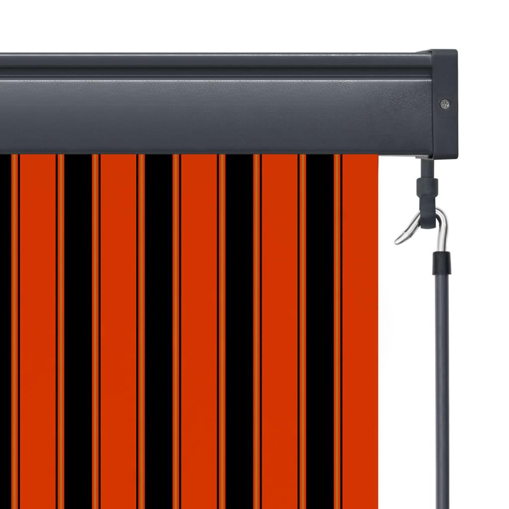 vidaXL Rolgordijn voor buiten 140x250 cm oranje en bruin