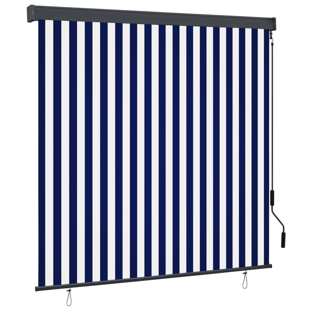 Außenrollo 160×250 cm Blau und Weiß