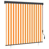 vidaXL Rolgordijn voor buiten 160x250 cm wit en oranje