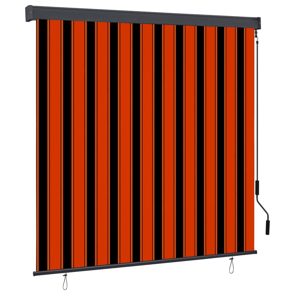 vidaXL Jaluzea tip rulou de exterior, portocaliu și maro, 160 x 250 cm imagine vidaxl.ro