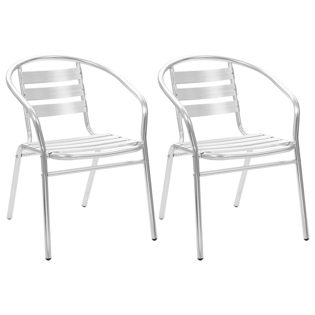 vidaXL Stohovatelné zahradní židle 2 ks hliník