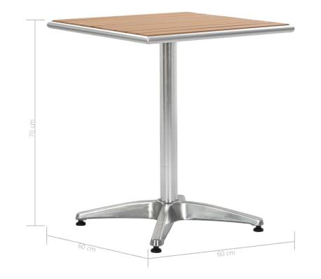 Tavoli Da Giardino In Alluminio.Vidaxl Tavolo Da Giardino Argento 60x60x70 Cm In Alluminio E Wpc
