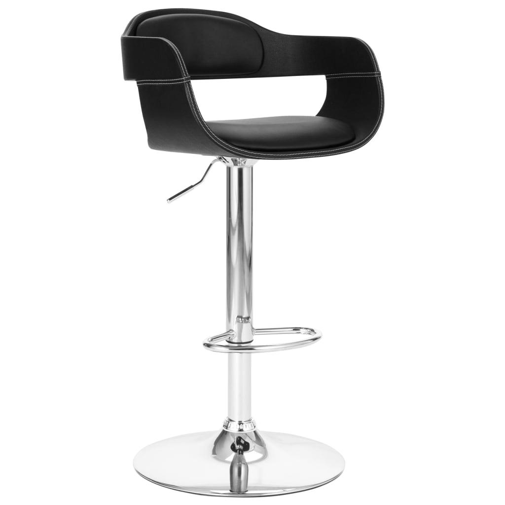 vidaXL Chaise de bar Noir Similicuir
