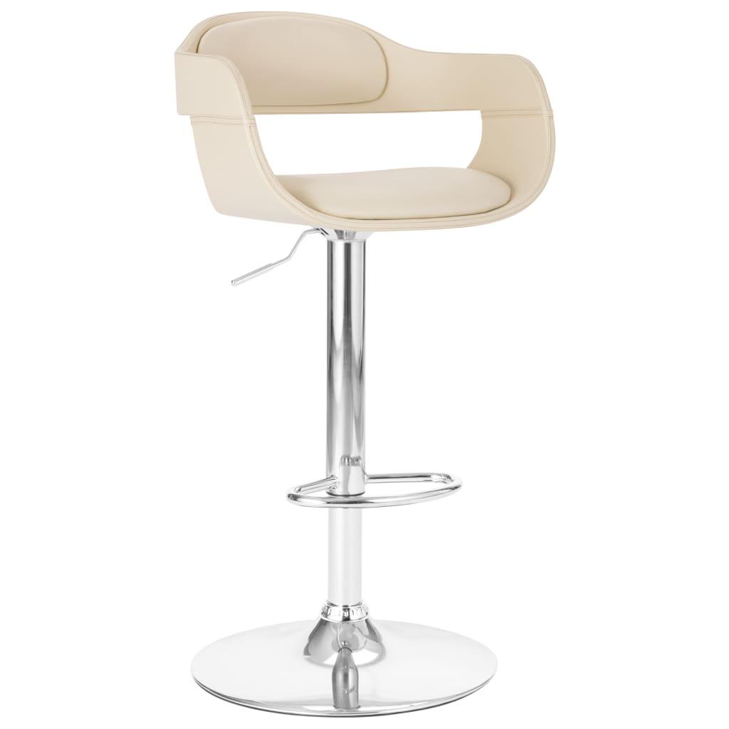 vidaXL Krzesło barowe, białe, obite sztuczną skórą