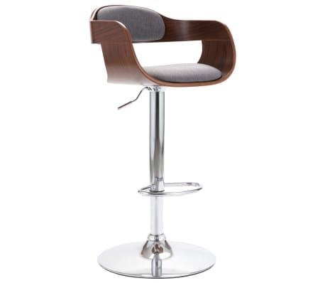 vidaXL Chaise de bar Contreplaqué et tissu gris