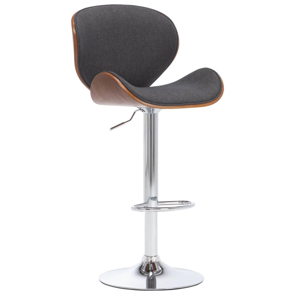 vidaXL Chaise de bar Gris Tissu