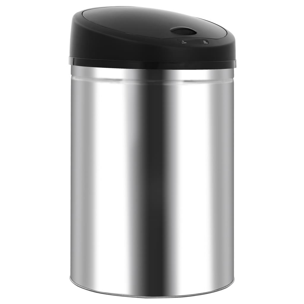 vidaXL Coș de gunoi automat cu senzor, 32 L, oțel inoxidabil vidaxl.ro