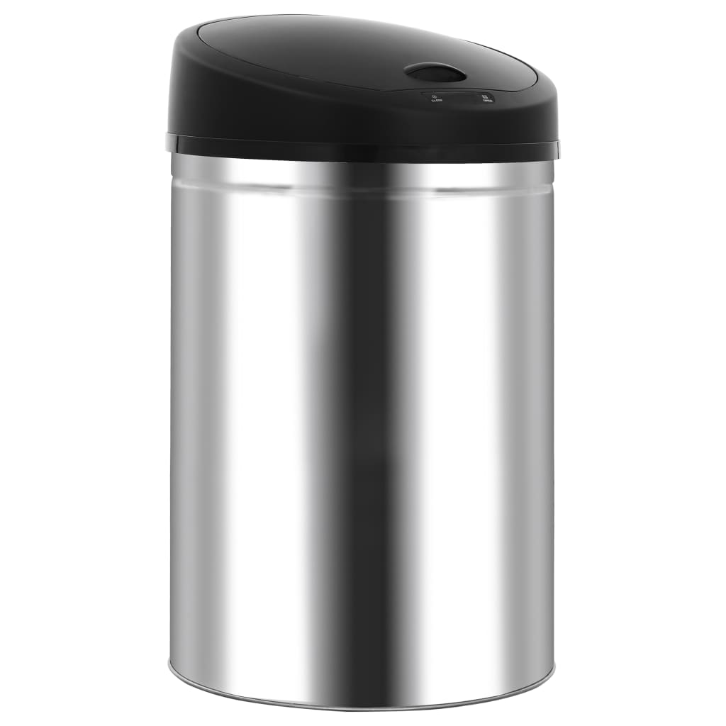 vidaXL Coș de gunoi automat cu senzor, 42 L, oțel inoxidabil poza vidaxl.ro