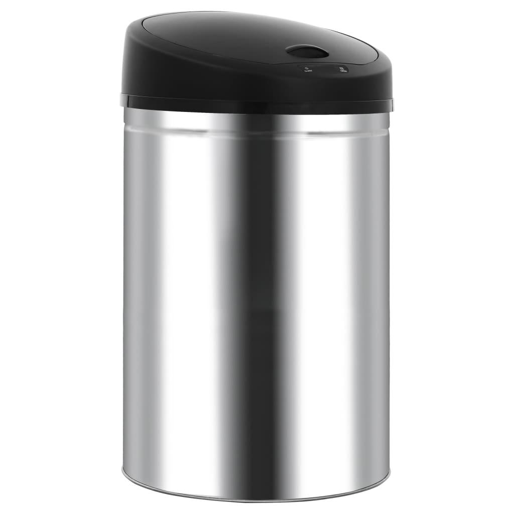 vidaXL Coș de gunoi automat cu senzor, 52 L, oțel inoxidabil vidaxl.ro