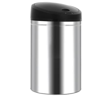 vidaXL Coș de gunoi automat cu senzor, 52 L, oțel inoxidabil