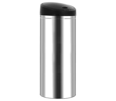 vidaXL Coș de gunoi automat cu senzor, 62 L, oțel inoxidabil