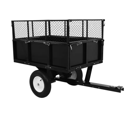 vidaXL Tipping Trailer for Lawn Tractor 300 kg Load
