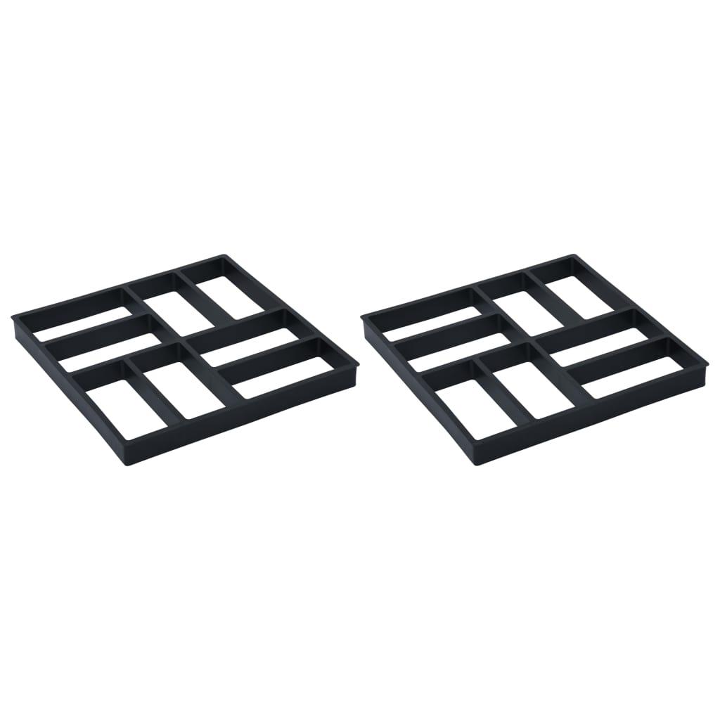 vidaXL Formy na dlažbu 2 ks 40 x 40 x 4 cm plast