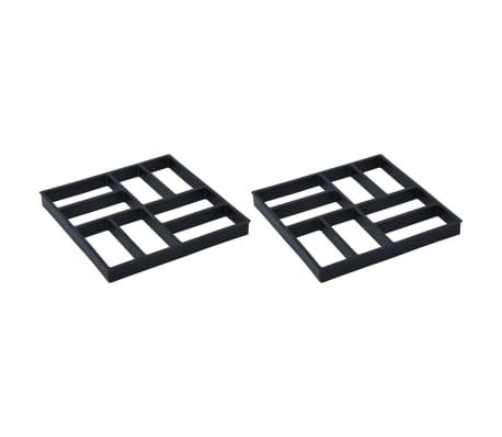 vidaXL Matrițe pentru pavaje, 2 buc., 40 x 40 x 4 cm, plastic