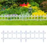 vidaXL Lawn Edgings 16 pcs White 10 m PP