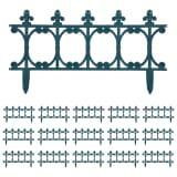 vidaXL Bordures de jardin 16 pcs Vert 10 m PP