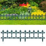 vidaXL Lawn Edgings 16 pcs Green 10 m PP