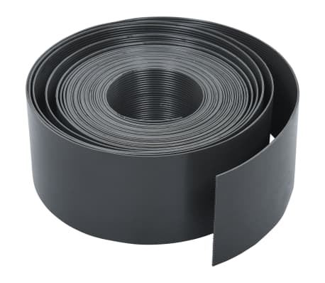 vidaXL Garden Edging Grey 10 m 10 cm PE