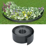vidaXL Garden Edging Grey 10 m 10 cm PE