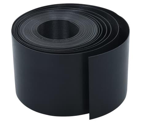 vidaXL Vrtna ivica crna 10 m 15 cm PE