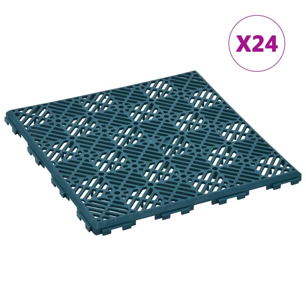 vidaXL Zahradní dlaždice 24 ks zelené 29 x 29 cm plast