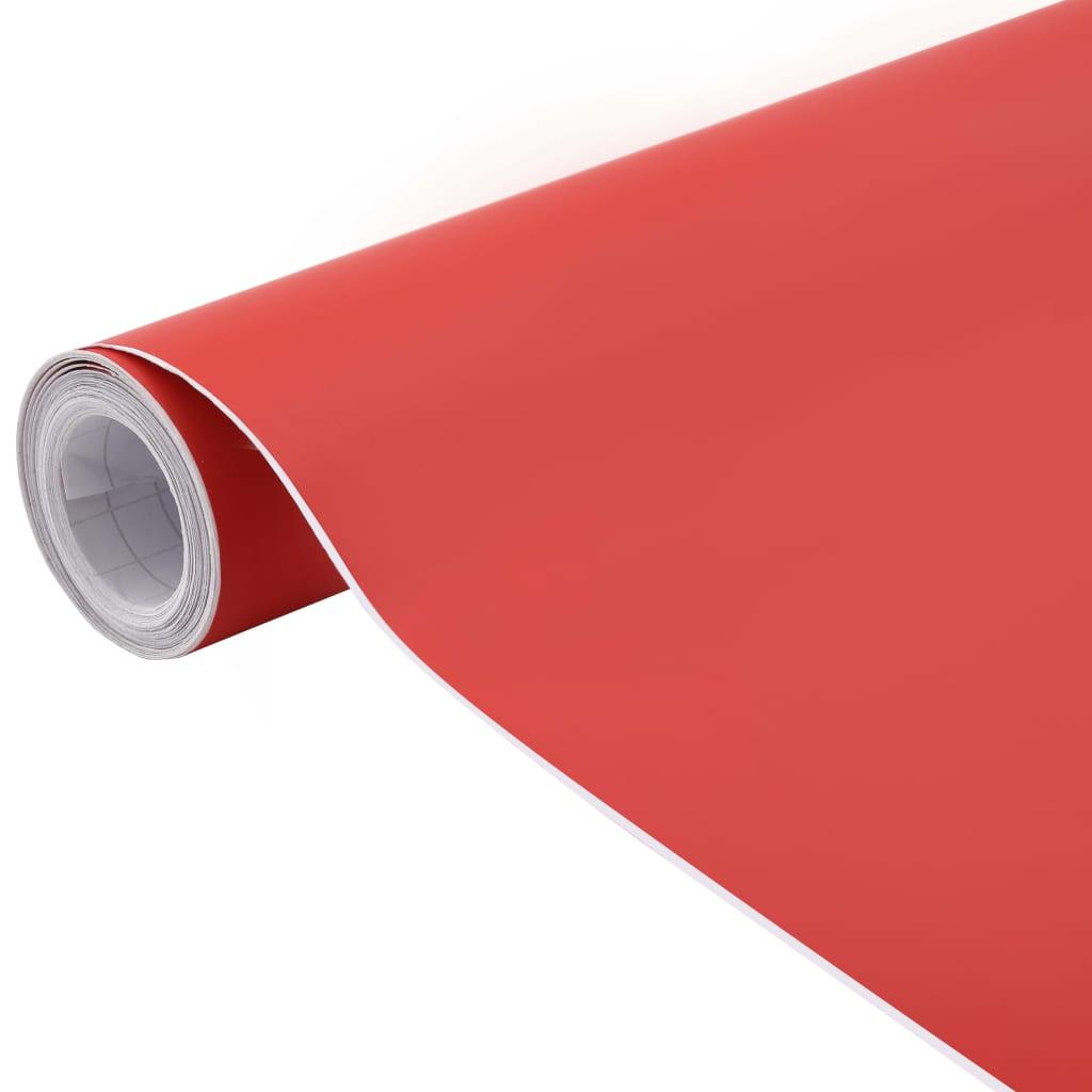vidaXL Folie auto mașină, roșu mat, 200 x 152 cm poza 2021 vidaXL