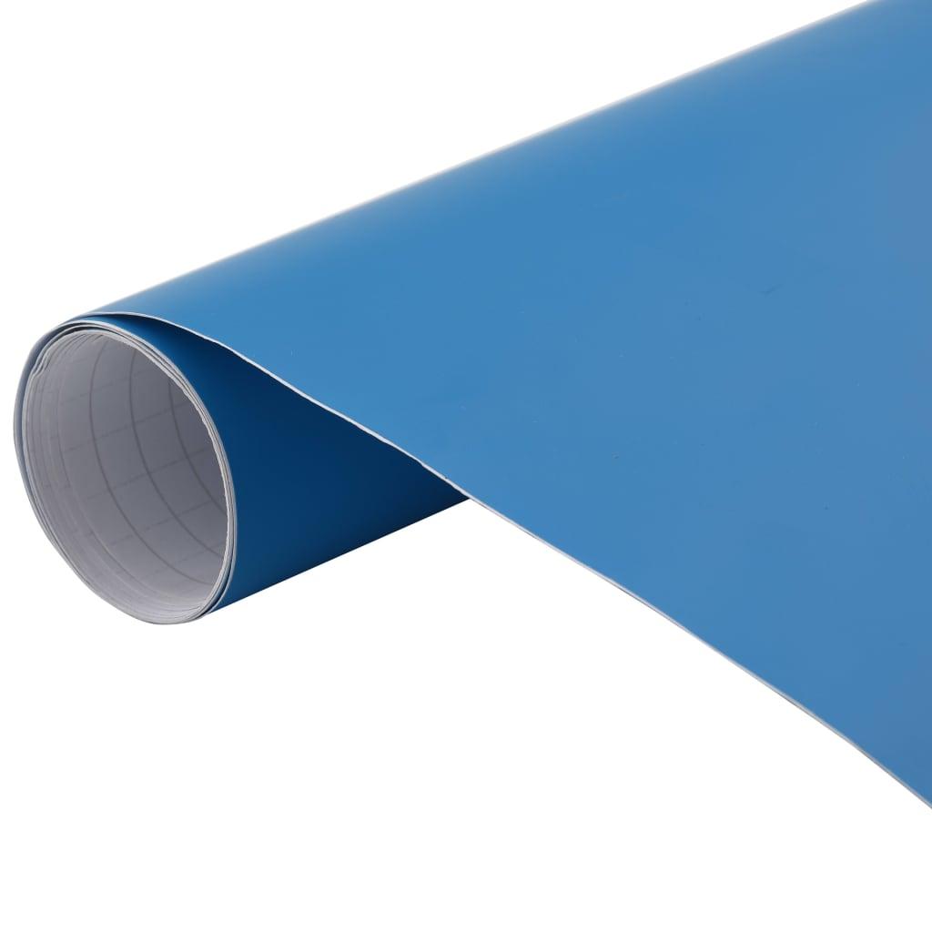 vidaXL Folie auto, albastru, 200 x 152 cm poza 2021 vidaXL