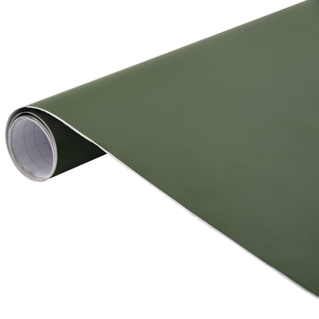vidaXL Folie auto, verde, 500 x 152 cm poza 2021 vidaXL